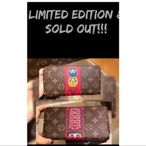 ❗️👹👺RARE Louis Vuitton KABUKI ZIPPY WALLET